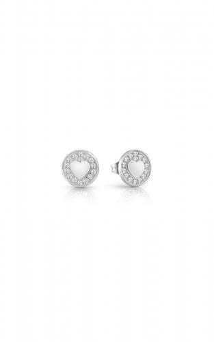 GUESS STEEL UBE85012 Ασημένια Σκουλαρίκια Με Καρδιά