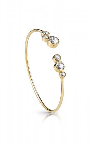 GUESS STEEL UBB28137-S Χρυσό Βραχιόλι Ανοιχτό Με Πέτρες