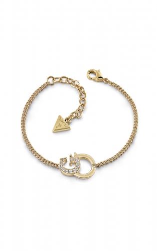 GUESS STEEL UBB28098-S Χρυσό Βραχιόλι Με Λογότυπο
