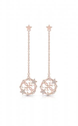 GUESS STEEL UBE28012 Ροζ Χρυσά Σκουλαρίκια Με Σχέδιο