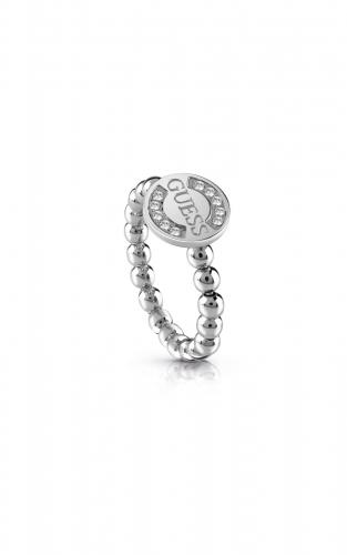 GUESS STEEL UBR28009-54 Ασημένιο Δαχτυλίδι Με Χάντρες