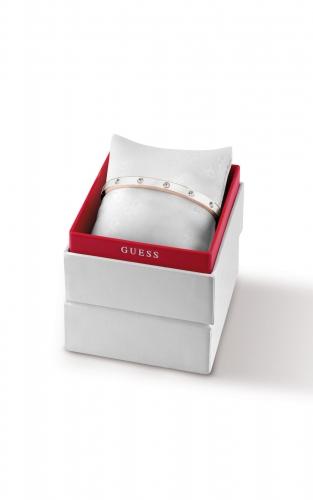 GUESS STEEL UBS28007-L Δίχρωμο Βραχιόλι Με Πέτρες