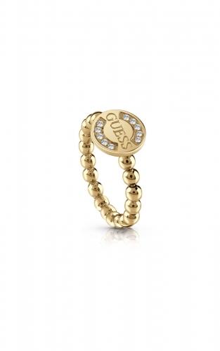 GUESS STEEL UBR28010-52 Χρυσό Δαχτυλίδι Με Χάντρες
