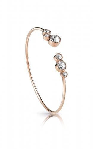 GUESS STEEL UBB28138-S Ροζ Χρυσό Βραχιόλι Ανοιχτό Με Πέτρες