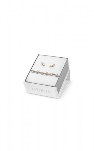 GUESS FAUX UBS84020-L Σετ Ροζ Χρυσό Βραχιόλι Και Σκουλαρίκια