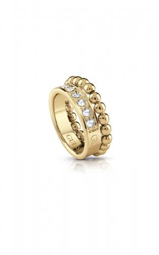 GUESS STEEL UBR28013-52 Χρυσό Δαχτυλίδι Με Χάντρες