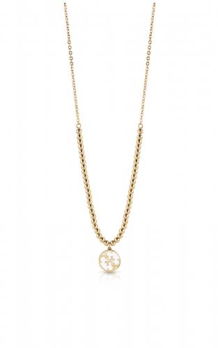 GUESS STEEL UBN78082 Χρυσό Κολιέ Με Πέρλες & Σχέδιο